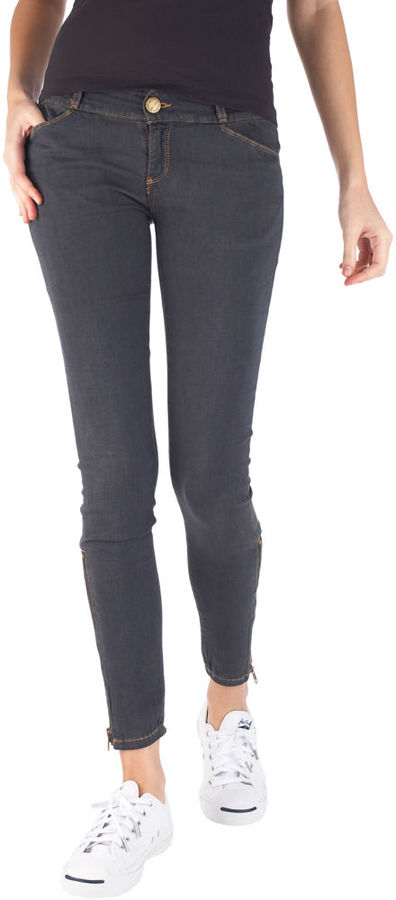 Current/Elliott The Cropped Zip Legging - Super Stretch O/D