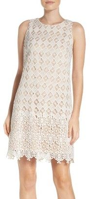 Women's Eliza J Lace Shift Dress $188 thestylecure.com