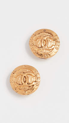 Chanel What Goes Around Comes Around Paris Round Earrings