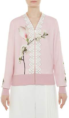 Ted Baker Emylou Harmony Print Zip Cardigan