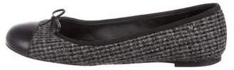 Chanel CC Tweed Flats