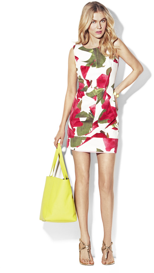 Vince Camuto Geometric Shift Dress