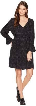 Lucky Brand Printed Bell Sleeve Dress Women's Dress