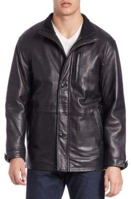 Boston Harbour Long Leather Jacket