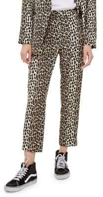 Topshop Leopard Print Pants
