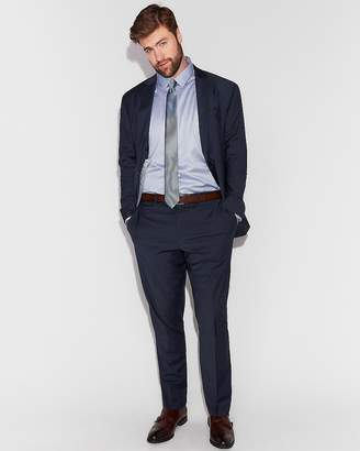 Express Classic Navy Performance Stretch Wool-Blend Suit Pant