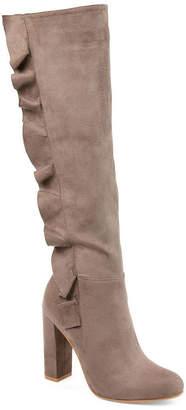 Journee Collection Womens Jc Vivian Dress Boots Block Heel Zip
