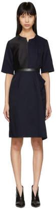 Stella McCartney Navy Contrast Asymmetric Dress