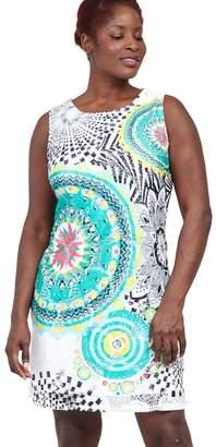 M&Co Izabel Curve eastern print shift dress