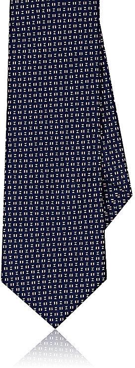 Barneys New YorkBarneys New York Men's Neat-Pattern Silk-Cotton Necktie