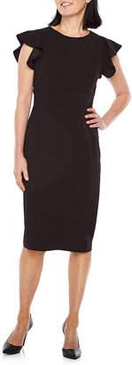 Liz Claiborne Short Sleeve Sheath Dress