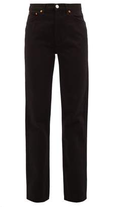 RE/DONE High Rise Loose Jeans - Womens - Black