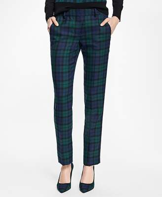 Wool-Blend Black Watch Pants $128 thestylecure.com
