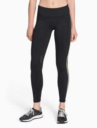Calvin Klein reflective stripe leggings