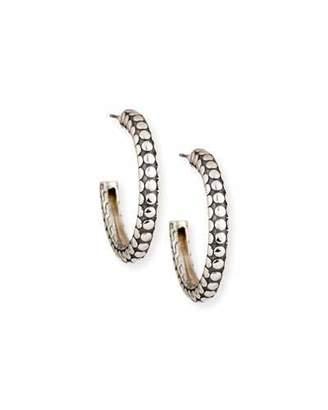 John Hardy Dot Small Silver Hoop Earrings