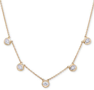 Wrapped Diamond Disc Collar Necklace (1/4 ct. t.w.) in 10k Gold, Created for Macy's