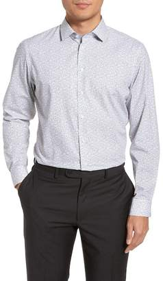 F&F CALIBRATE Trim Fit Butterfly Print Sport Shirt