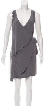 Madison Marcus Silk Embellished Dress