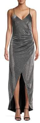 Vince Camuto High-Low Metallic Gown