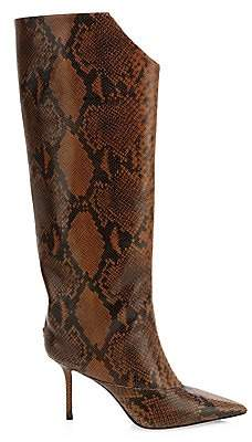 Jimmy Choo Women's Brelan Tall Snake-Embossed Leather Boots