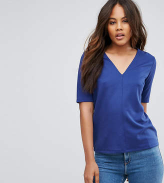 Asos Tall TALL The Ponte Top With V-Neck Detail