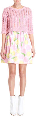 Moschino Two-Piece Lemon Print Dress & Sweater Set