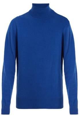 Raey - Cashmere Roll Neck - Mens - Mid Blue