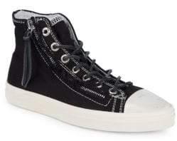 Saint Laurent Cap Toe High-Top Sneakers