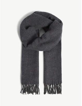 Richard James Zig-zag wool and cashmere scarf