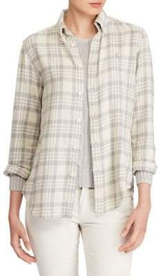 Polo Ralph Lauren Classic-Fit Plaid Twill Cotton Button-Down Shirt