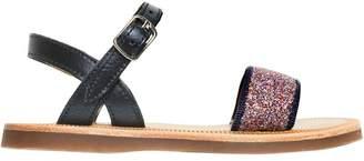 Pom D'Api Glitter & Leather Sandals