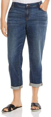 Eileen Fisher Plus Cropped Boyfriend Jeans in Aged Indigo