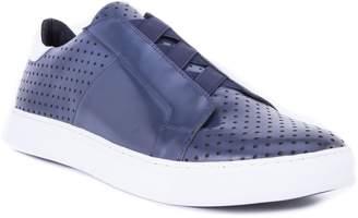 Robert Graham Rowley Perforated Laceless Sneaker