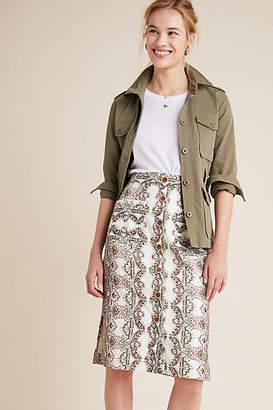 e0efde43a Maeve Kaleidoscope Button-Front Pencil Skirt