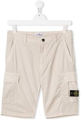 Stone Island Junior TEEN cargo shorts