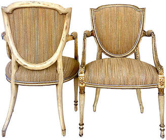 One Kings Lane Vintage Antique French Shield-Back Chairs - Set of 2 - Jacki Mallick Designs