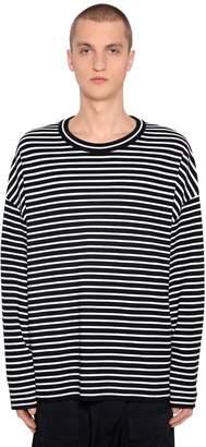Juun.J Oversize Striped Wool Knit Sweater