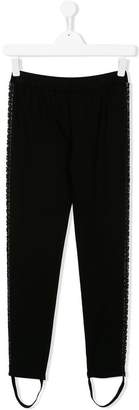 Pinko Kids contrast panel trousers