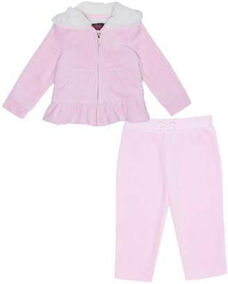 Juicy Couture Velour Pansy Party Sherpa Lined Set for Baby
