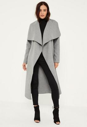 Grey Oversized Waterfall Duster Coat $48 thestylecure.com