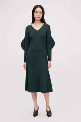Cos SHAPED RIB-KNIT WOOL DRESS