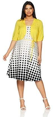 Sandra Darren Women's Plus Size 2 Pc Elbow Sleeve Jacket Dress Set