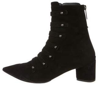Christian Dior Suede Pointed-Toe Ankle Boots
