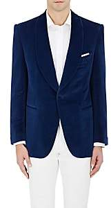 Cifonelli CIFONELLI MEN'S VELVET ONE-BUTTON TUXEDO JACKET
