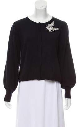 BA&SH Embellished Button-Up Cardigan