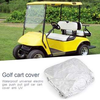 Sunrain Waterproof Superior Black Golf Cart Cover Covers Club Car, EZGO, Yamaha, Fits Most Four-Person Golf Carts