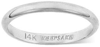 Keepsake 14kt White Gold 2mm Wedding Band