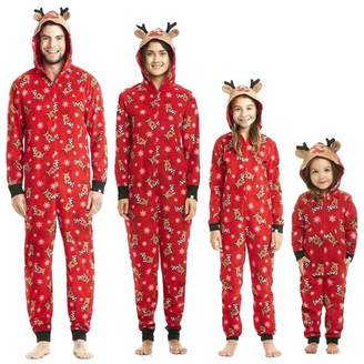 UUCC Family Matching Christmas Pajamas Set Onesies with Cute Reindeer  Graphics Hooded M ae816dcef