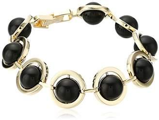 "Noir Orbit"" Semiprecious Kuiper Belt Bracelet"