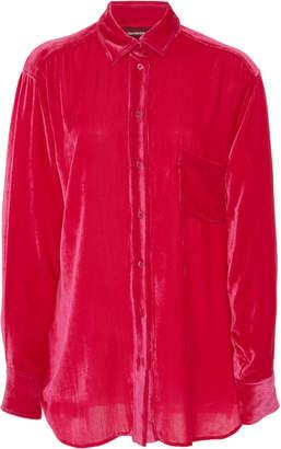 Sies Marjan Sander Collared Corduroy Silk-Cotton Shirt Size: S